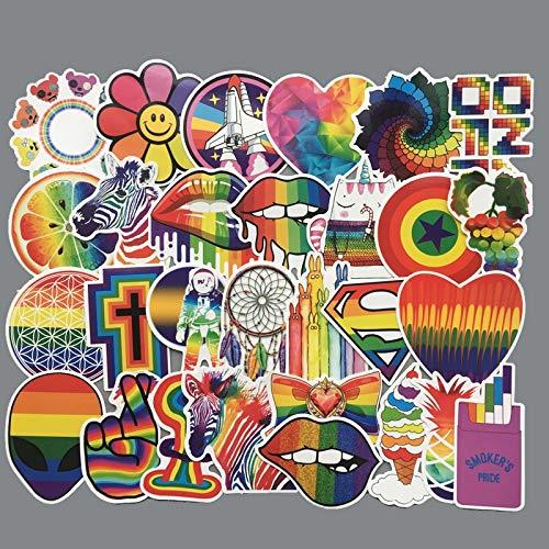BLOUR 60 Stück/Set Rainbow Sexy Aufkleber für Homosexuell LGBT Flagge Gay Pride Dekor Aufkleber auf Laptop Auto Telefon Gepäck PVC Wasserdichtes Spielzeug Geschenk