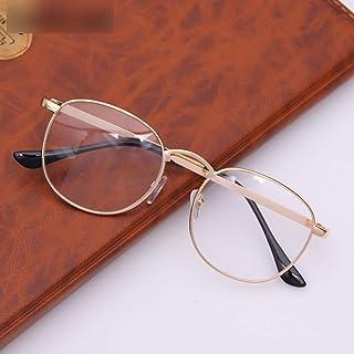 Occhiali da Vista per Donna e Uomo Montatura Oversize Color : Black-Silver Shiduoli Occhiali da Vista in Metallo con Montatura Irregolare