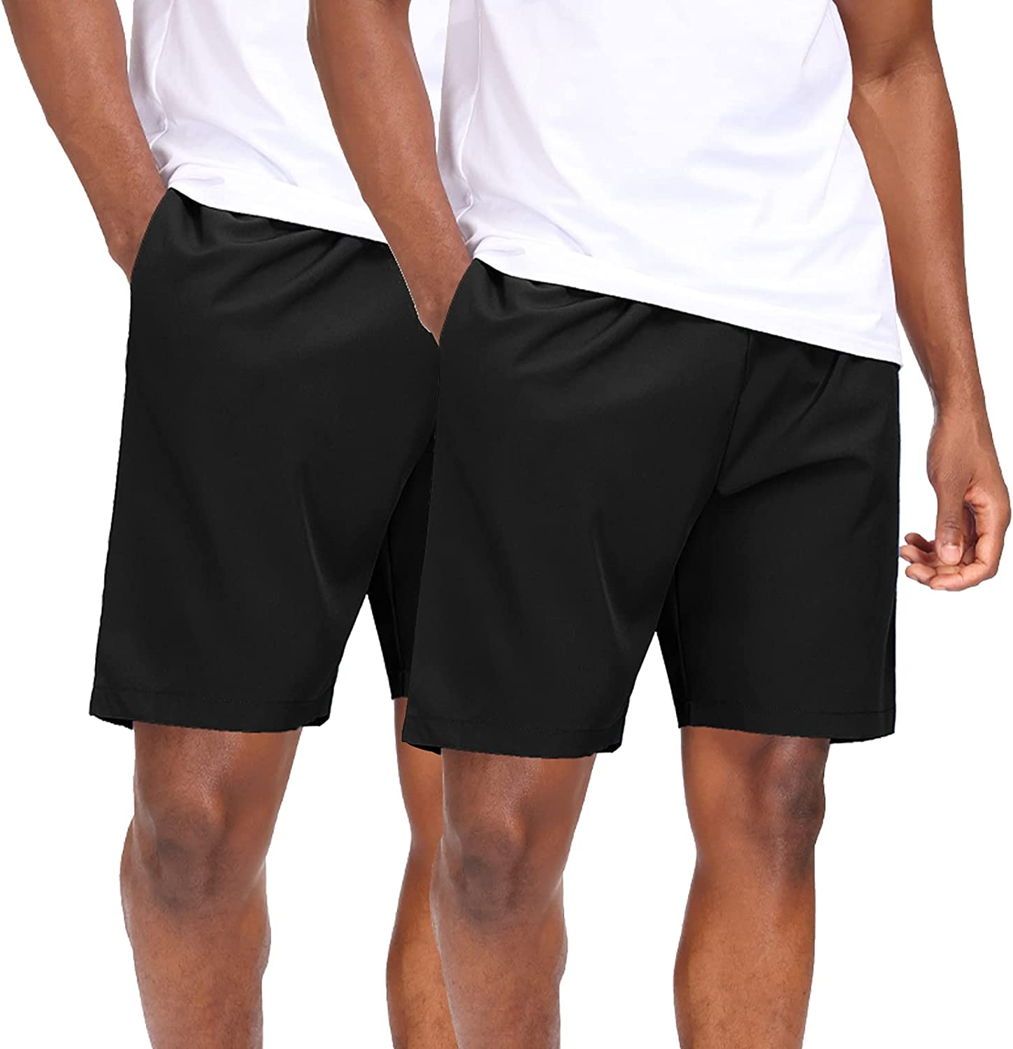 HMIYA Men's New Max 76% OFF York Mall Sports Shorts Quick Dry Pockets for Workout Zip with