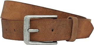 Gusti - Cintura da donna in pelle – Lane cintura in vera pelle marrone larghezza 4 cm