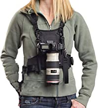 Nicama Camera Strap Carrier Chest Harness Vest with Mounting Hubs & Backup Safety Straps for Hiking Canon 6D 5D2 5D3 Nikon D800 D810 Sony A7S A7R A7S2 Sigma Olympus DSLR Cameras