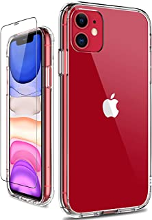 GiiKa iPhone 11 Case with Screen Protector, Clear Heavy Duty Protective Case Girls Women Shockproof Hard PC Back Case with...