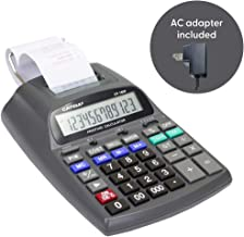 $37 » Catiga 12-Digit Desktop Printing Calculator with Tax Functions, Two Color,2.03 Lines/sec, with AC Adapter, CP-1800 for Home/Office, Comes with AC Guaranteed (Black, with AC)