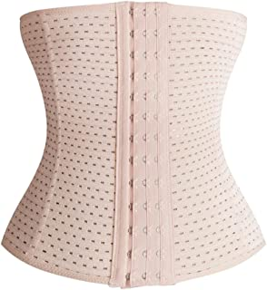 BOZEVON Women Postpartum Bellyband Waist Corset for Weight Loss Sport Body Shaper Tummy Control Fat Burner Girdle, A 3, 3XL