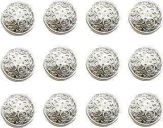 HEALLILY 30pcs Vintage Antique Metal Blazer Buttons with Shank Coats Buttons Jacket Buttons Shirt Suit Trousers Buttons Ro...
