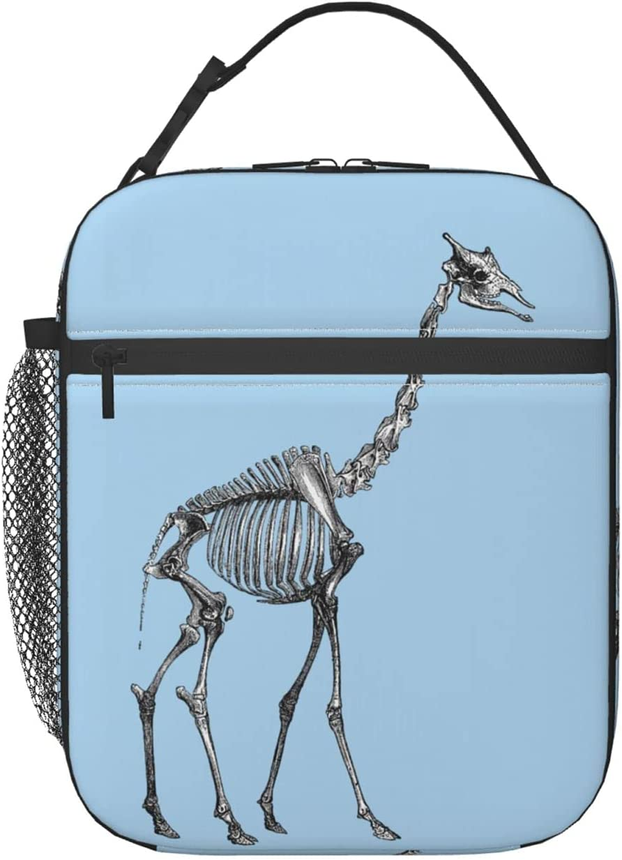 Giraffe Skeleton Sale price Large discharge sale Lunch Bag Bo Tote For Women
