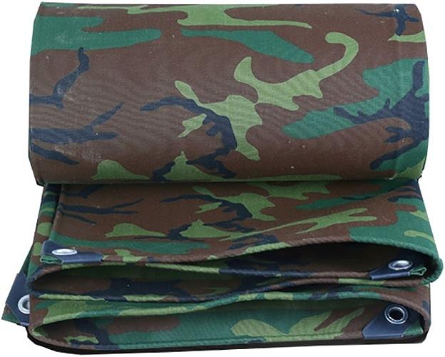 LPYMX Refuge de Camping Bache, Toile bache imperméable à l'eau Camping Mat Haute température Anti-vieillissement Tente Tissu Camion Couverture, Camouflage (Couleur   A, Taille   6  8m)