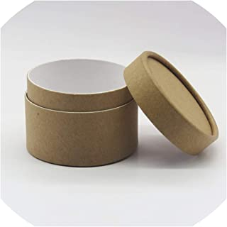 Postal Mailing Paper Cardboard Canister Tube Cylinder Round Jar Packaging Gift Box,Kraft,7.3X7.3X16.8Cm
