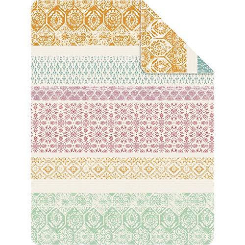 Ibena Kuscheldecke Jambi 150x200 cm: Wolldecke Mehrfarbig bunt, kuschelig weich und angenehm warm, hochwertige Pflegeleichte Baumwollmischung