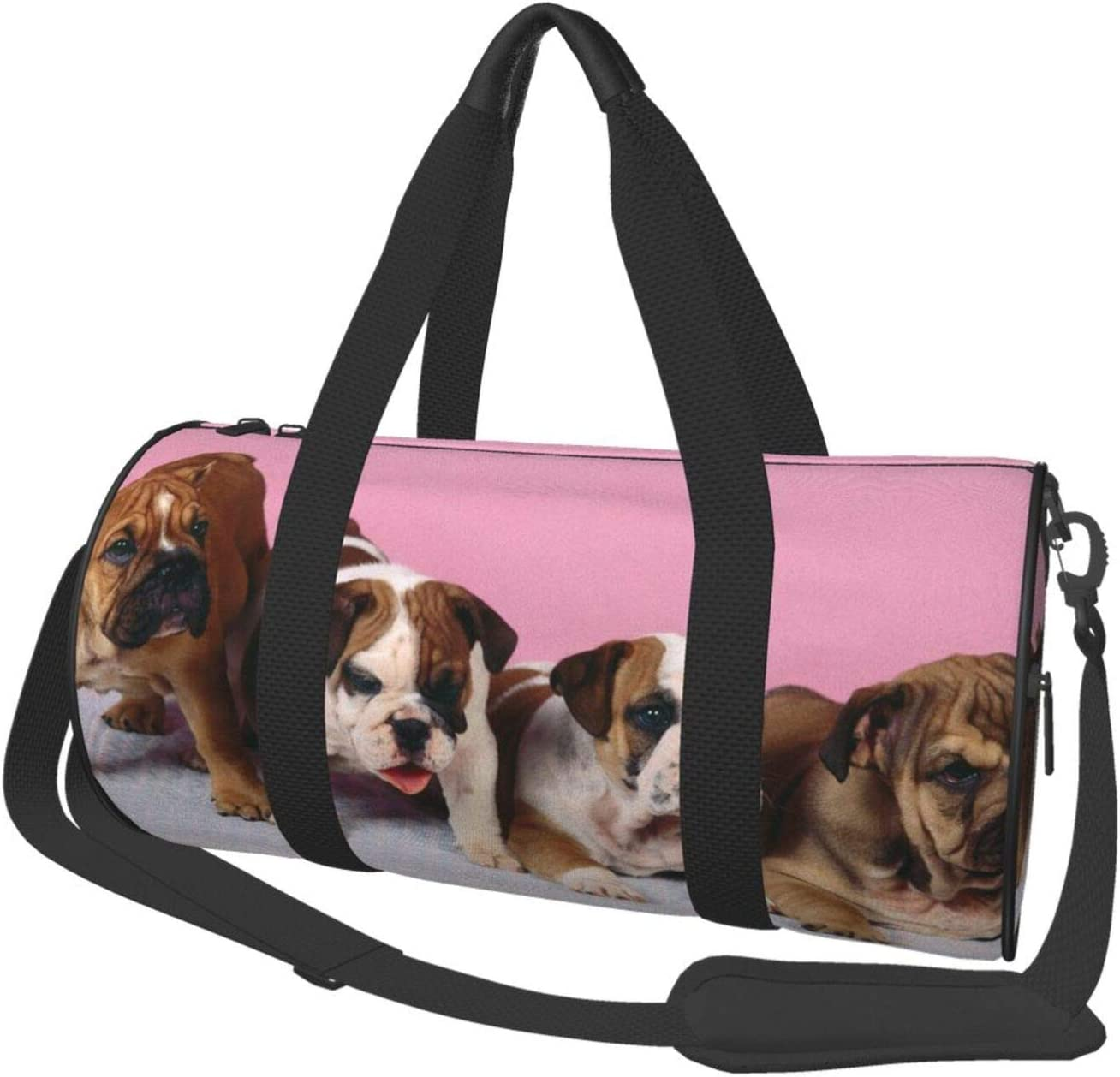 English Bulldogs Canvas Travel Duffel Sports F Gym Bag Cheap mail order specialty store Fashionable Tote