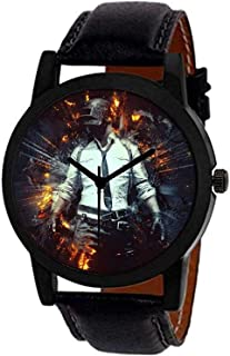 Aaradhya Fashion PUBG Badal Dial Black Analog Men Watches for Boy's