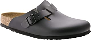 Birkenstock Boston Smooth Leather Slip On Shoes