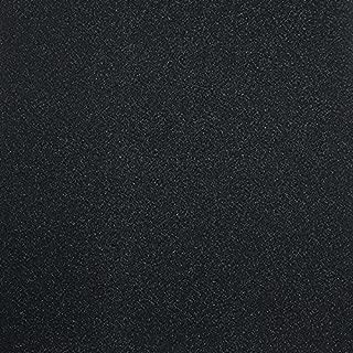 10枚 グリッターシート/シールタイプ ラメで輝く飾り ギフト/応援うちわ DIY手作り用 30cm×30cm (ブラック)