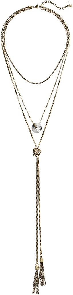 Layer Drop Lariat Necklace