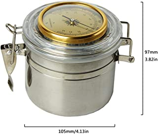Tobacco Humidifier with Hygrometer and Humidifier- Tobacco Moisturizing Jar - Stainless Steel Tobacco Case