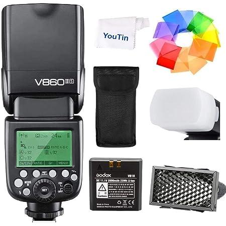 GODOX V860IIS カメラのフラッシュ リチウム電池付き Sony DSLRカメラ用ストロボ GN60 2.4G TTLオートフラッシュ 1/8000s高速同期