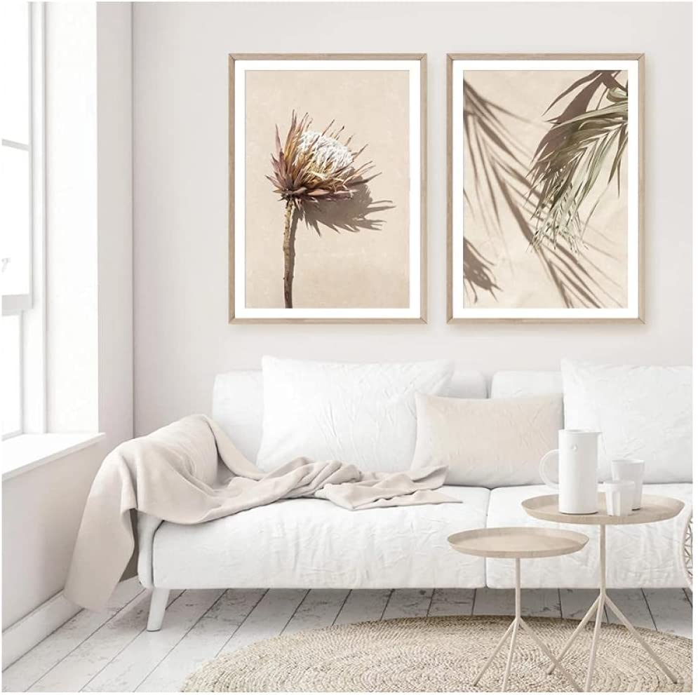 BINGJIACAI Bohemia Style Protea Translated Floral Finally resale start C Abstract Posters Leaves