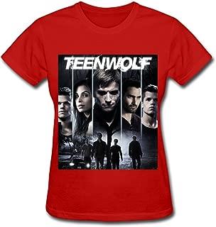 LR Women's Teen Wolf Poster Season 3 Cotton T-Shirt Black