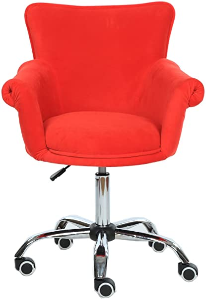 Magshion Deluxe Office Desk Chair Bar Stool Beauty Nail Salon Spa Vanity Seat Red