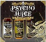 Psycho Juice Caja de Regalo con 3 Salsas de Chiles Picantes: Extrema, Mostaza y Ajo Asado