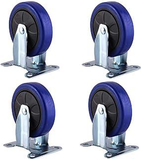 WQF Trolley meubels Caster,Heavy Duty wielen Swivel Wheel,100mm/125mm, Load 400kg (882 lbs), voor industriële wielen
