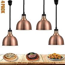 ZBBN Lampe chauffante pour Nourriture, Chauffe-Plats commerciaux, Lampe chauffante Suspension en métal rétro pour Cuisine ...