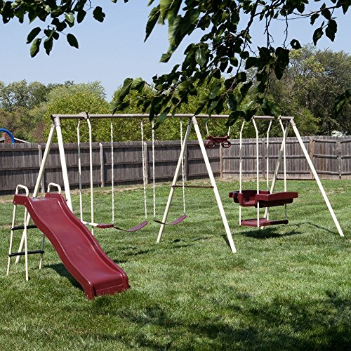 Flexible Flyer Play Park Swing Set w/ Slide,...