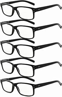 Eyekepper Mens Vintage Reading Glasses-5 Pack Black Frame Glasses for Men Reading Eyeglasses Women