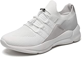 GOMNEAR Trail Road Running Tennis Shoes for Mens Athletic Trainer Flying Knit Walking Lightweight Casual Sneakers Big Size