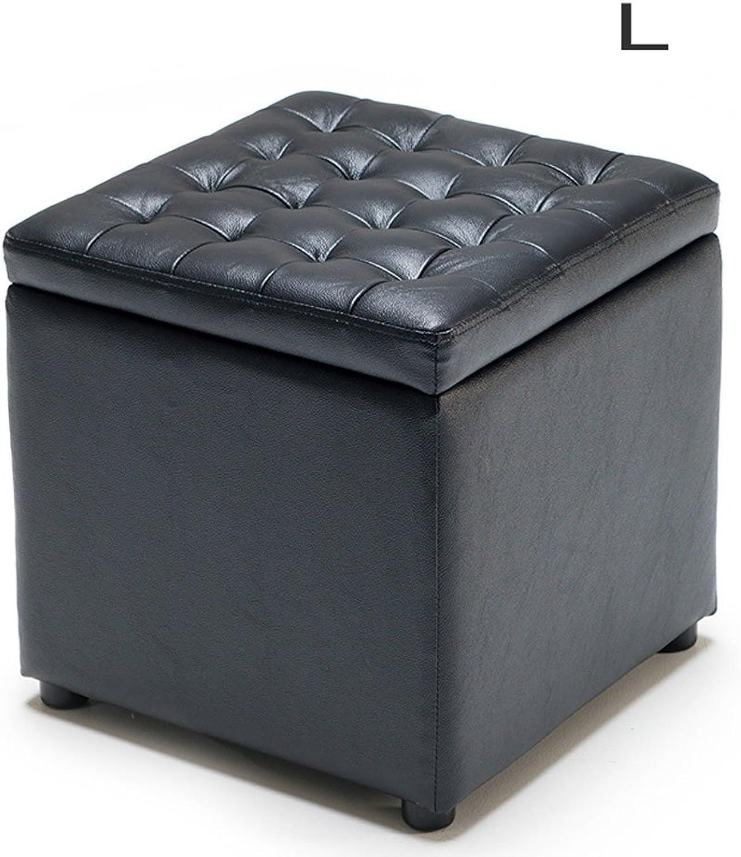 LYXPUZI Storage Stool Leather Bench Change shoes Bench Sofa Stool Storage Stool Low Stool (Size   L(40  40  40cm))