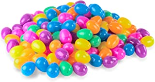 144 Count Plastic Easter Eggs Surprise Toys Blind Bags Colorful Assortment Bright Empty Shells, Crafts Basket Stuffers for Party Hunt Games (Regular Size)