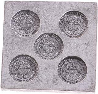 Escala 1:12 Miniaturas Molde de Galleta de Cocina de Metal Adornos de Casa de Muñeca