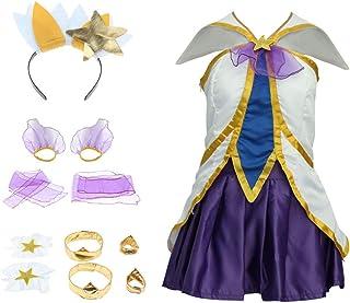 Juego LOL Star Guardians Janna The 's Fury Cosplay Disfraz Vestido De Lujo