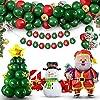 Tagitary クリスマス バルーン 88点豪華セット バルーンアーチ MERRY CHRISTMAS ガーランド サンタクロースさん 雪たるまさん 紙吹雪きらきら風船付き 祝い風船 装飾 インテリア