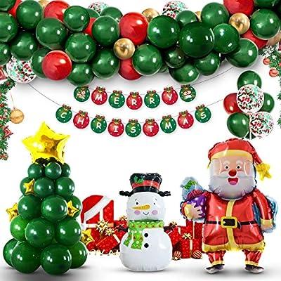 Amazon - Save 30%: SevenQ Christmas Decorations Balloon Arch Garland Kit, 88 Pcs Xmas…