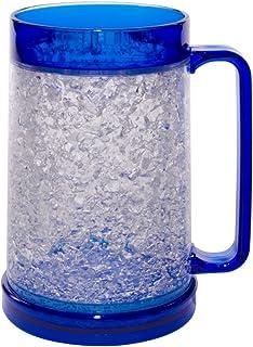 Liquid Logic Double Wall Gel Freezer Mug with Color Infused Handle, 16 oz., Blue