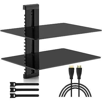 Dual Shelves PEERLESS-AV ESHV30 A//V Wall Shelf with Glass