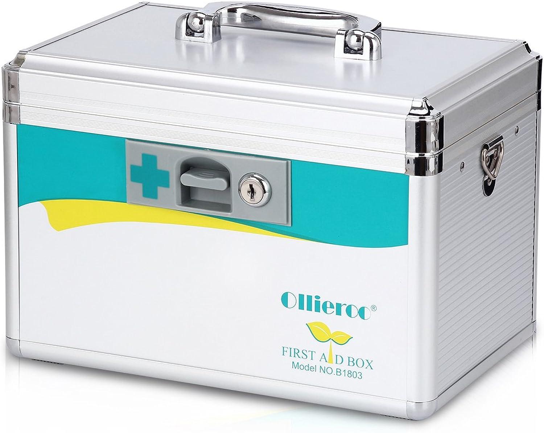 AZDENT Medicine Lock Box Precription Medication Storage Box First Aid Box 7.7 x 7.9 x 12 inches