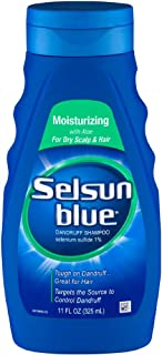 (Pack of 2) Selsun Blue Moisturizing with Aloe Dandruff Shampoo, For Dry Scalp& Hair, 11 oz(325ml) (Pack of 2)