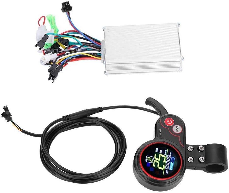 Taille : 24V controleur velo electrique Panneau De Commande Daffichage LCD Avec Une Partie Commutateur For Les Accessoires De V/élo /Électrique De Scooter De V/élo /Électrique Contr/ôleur
