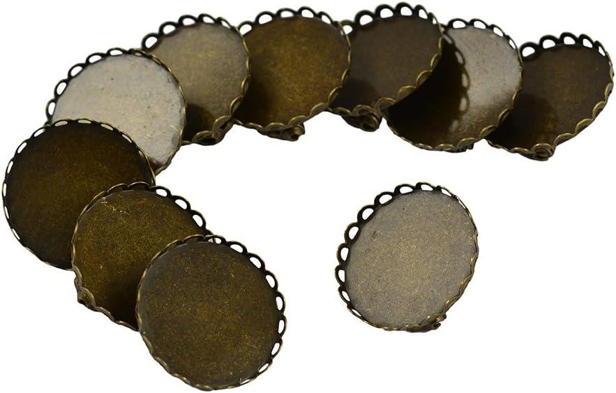 Non-brand Il Brooch dellAnnata 10pcs Distende Il Rilievo Rotondo del Fiore di Bronze
