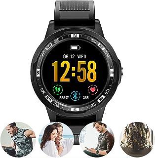 NANE Reloj Inteligente, Impermeable IP67, con Múltiples Modos de Deporte, Pulsera Inteligente con Pulsómetro, Blood Pressure, Podómetro, Sueño,GPS, Reloj Hombre para iOS y Android,Negro