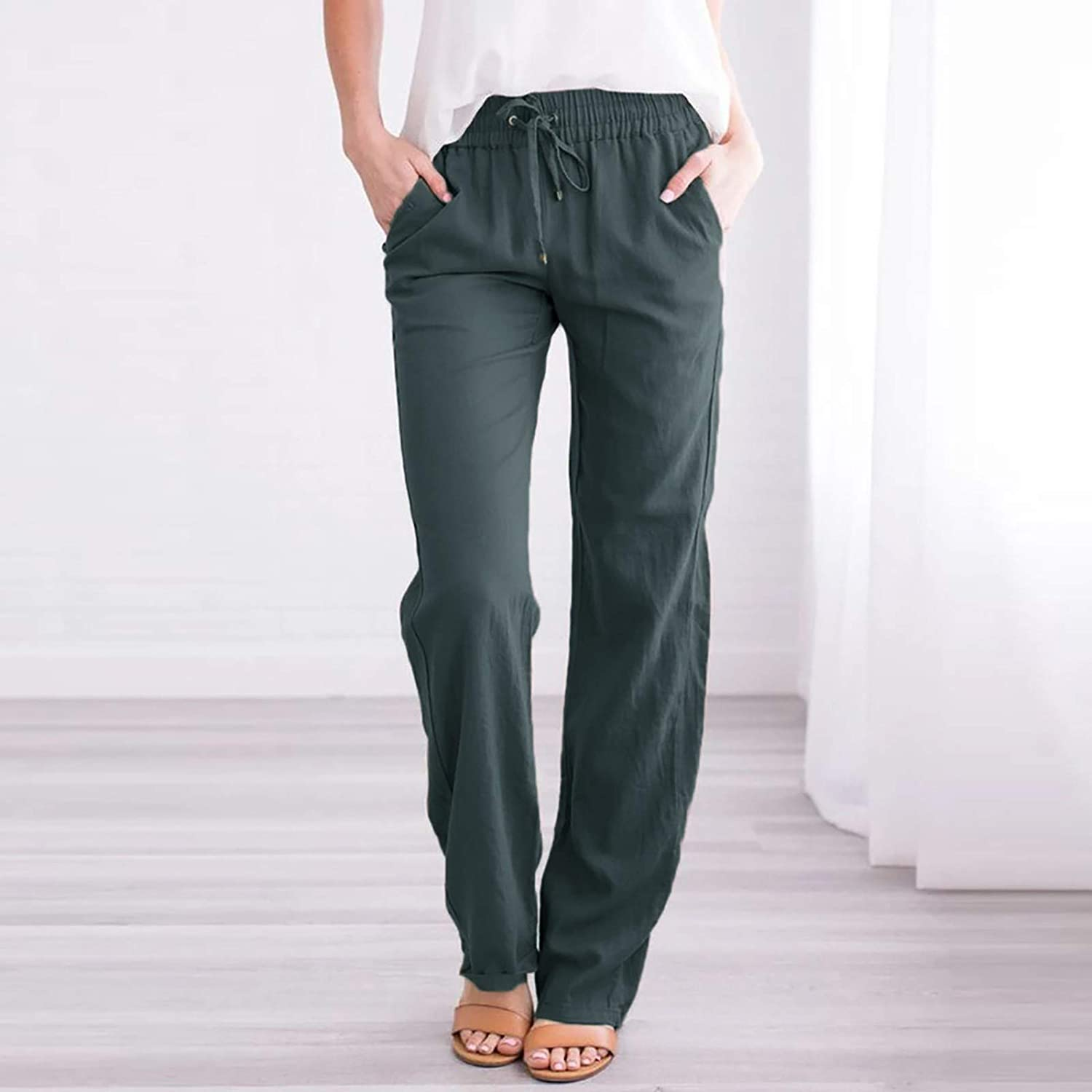 NP Women's Pants Waist Trousers Lady Loose Casual Pants Trousers
