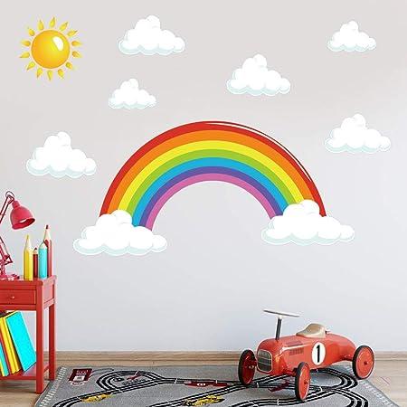 "2 M étage Autocollant School-Kids-Nursery-Sol Autocollants-Stickers-Rainbow 8/"""