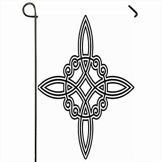 Ahawoso Outdoor Garden Flag 28x40 Inches Ladder Viking Spell Witchs Occult Protection Knot Wicca Power Four Abstract Druid Norse Tattoo Wiccan Seasonal Home Decor Welcome House Yard Banner Sign Flags