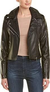 LAMARQUE Womens Piper & Jane Moto Jacket, S, Black