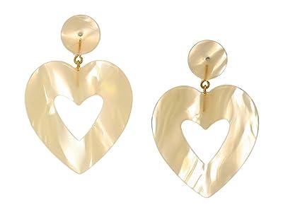 J.Crew Big Heart Acetate Earrings (White) Earring