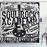 ABAKUHAUS Retro Cortina de Baño, La música Rock Imagen del Cartel, Material...