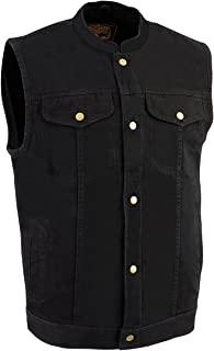 MILWAUKEE PERFORMANCE Men's Denim Club Style Vest (Black, 5X-Large)