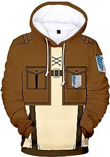 EMLAI Boy's Attack on Titan Hoodie Anime Survey Corps Cosplay Jumper Jacket Sweater Unisex Sweatshirt for Teen Adult